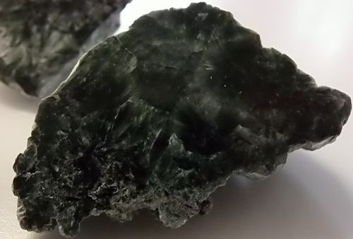 Half polished seraphinite